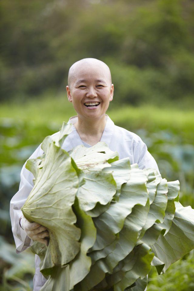 Nonne coreenne avec chou