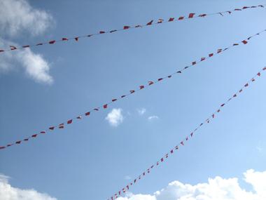 Drapeaux tibétains ciel