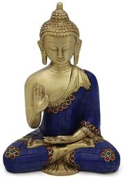 Statue bouddha mudra non-peur 1