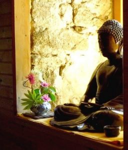 Bouddha-ikebana